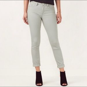 LC Cuffed Ankle Skinny Jean in Gray Mint